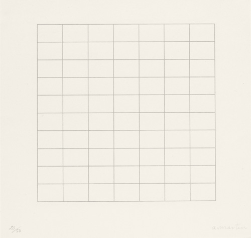 Agnes Martin. On a Clear Day, 1973. Parasol Press, Ltd. © 2015 Agnes Martin / Artists Rights Society (ARS), New York.