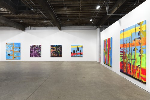 Chris Martin. Installation view, 2014. Courtesy of Anton Kern Gallery, New York.