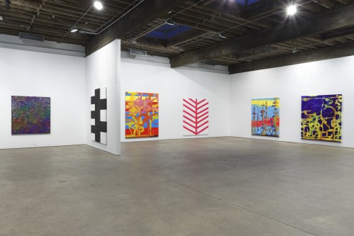 Chris Martin. Installation view (3), 2014. Courtesy of Anton Kern Gallery, New York.
