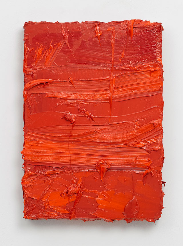Jason Martin. Untitled (Coral Orange / Vermilion), 2016. Oil on panel