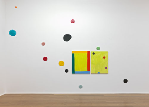 Mary Heilmann. <em>Visions, Waves and Roads,</em> 2012. Installation view. © Mary Heilmann. Courtesy the artist and Hauser & Wirth. Photographs: Alex Delfanne
