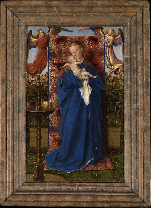 Jan van Eyck. <em>Madonna by the fountain</em>, 1439. © Lukas–Arts in Flanders VZW, Royal Museum of Fine Arts Antwerp.