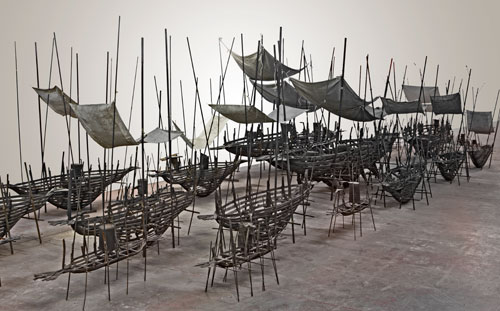 Xavier Mascaró. Departure, 2009-11. Bronze, iron, brass, fabric, dimensions variable. © Xavier Mascaró, 2009. Image courtesy of the artist. Photograph: Joaquin Cortes.
