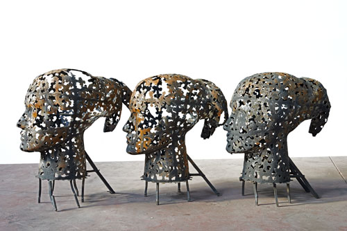 Xavier Mascaró. Queen (Head of Alexandra with four Heads of Eleanora), 2014. Iron, dimensions variable. © Xavier Mascaró, 2014. Image courtesy of the artist. Photograph: Joaquin Cortes.