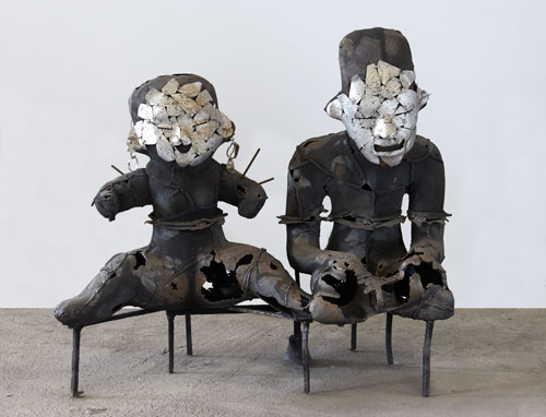 Xavier Mascaró. Sacred Couple, 2014. Iron and aluminium, 100 x 114 x 43cm. © Xavier Mascaró, 2014. Image courtesy of the artist. Photograph: Joaquin Cortes.