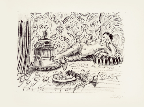 Henri Matisse. Odalisque, brasero et coupe de fruits, 1929. Lithograph on wove paper, 10 15/16 x 14 13/16 in. © DACS.