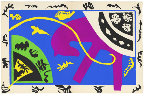 Henri Matisse. The Horse, the Rider, and the Clown, 1943-4. Maquette for plate V of the illustrated book Jazz 1947. © Centre Pompidou, MNAM-CCI, Dist. RMN-Grand Palais / Jean-Claude Planchet. © Succession Henri Matisse/DACS 2013.