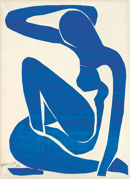 Henri Matisse. Blue Nude (I), 1952. Gouache painted paper cut-outs on paper on canvas, 106.3 x 78 cm. Foundation Beyeler, Riehen/Basel. Photograph: Robert Bayer, Basel. © Succession Henri Matisse/DACS 2013.