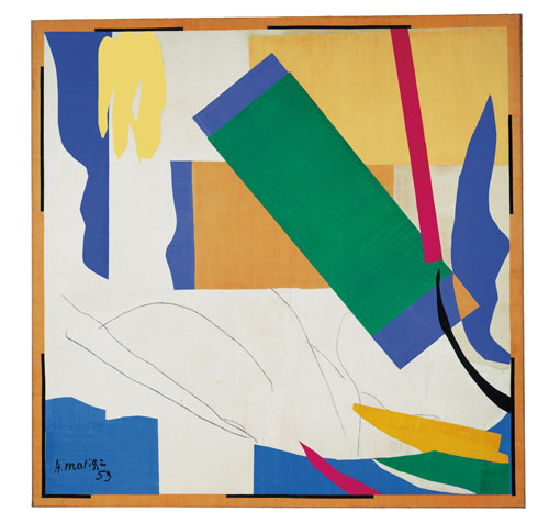 Henri Matisse. Memory of Oceania, 1952-3. Gouache and crayon on cut-and-pasted paper over canvas. MoMA. Digital image: © 2013. The Museum of Modern Art, New York / Scala Florence. Artwork: © Succession Henri Matisse/DACS 2014.