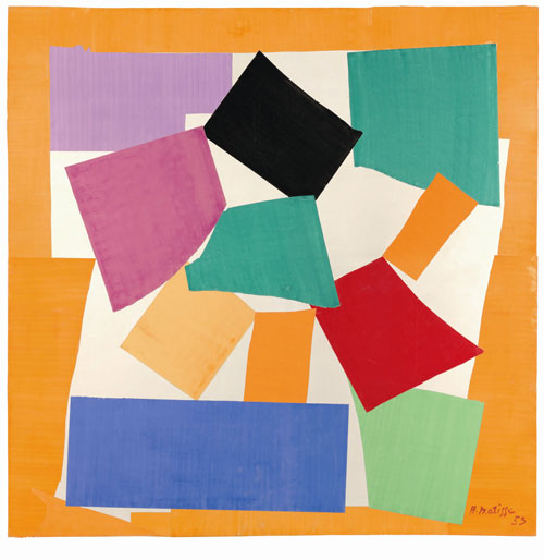 Henri Matisse. The Snail, 1953. Gouache on paper, cut and pasted on paper mounted to canvas. Tate © Succession Henri Matisse/DACS 2013.
