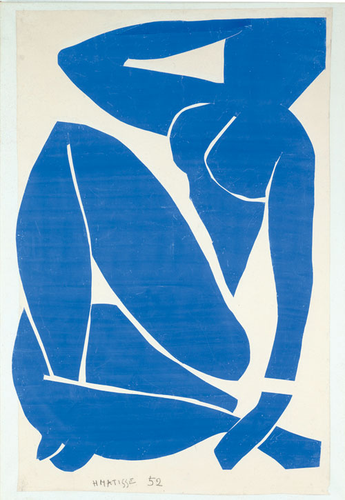 Henri Matisse. <em>Nu bleu II</em>, 1952. Gouache, cut and pasted on white paper mounted on canvas, 116.2