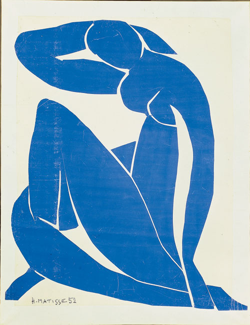 Henri Matisse. <em>Nu bleu II</em>I, 1952. Gouache, cut and pasted on white paper mounted on canvas, 112