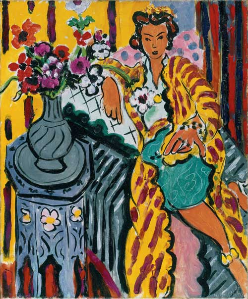 Henri Matisse, Odalisque with Yellow Persian Robe and Anemones, 1937. 
