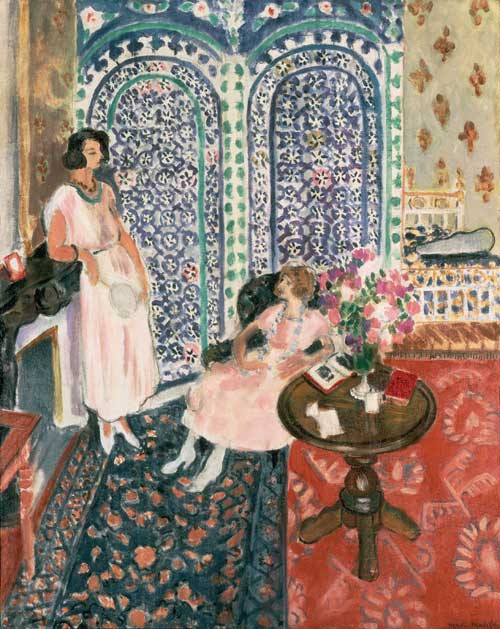 Henri Matisse, The Moorish Screen, 1921. Oil on canvas 90.8 x 74.3 cm. 