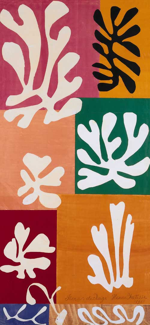 Henri Matisse, Snow Flowers, 1951. Watercolour and gouache on cut and 