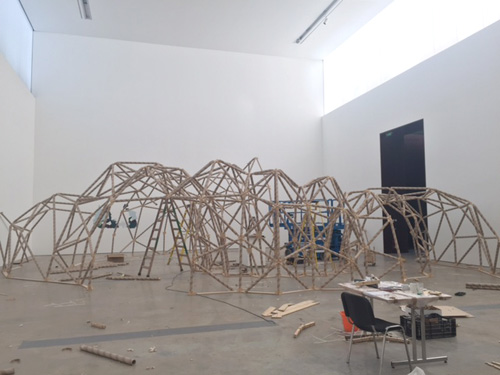 Niamh McCann. Copernicus for Now. Installation view of exhibition, VISUAL Carlow, September 2015. Photograph: Niamh McCann.