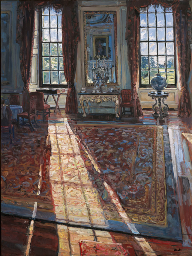 Hector McDonnell. Chatsworth – Sunlight in the Private Dining Room. Oil on canvas, 122 x 91.5 cm (48 x 36 in).