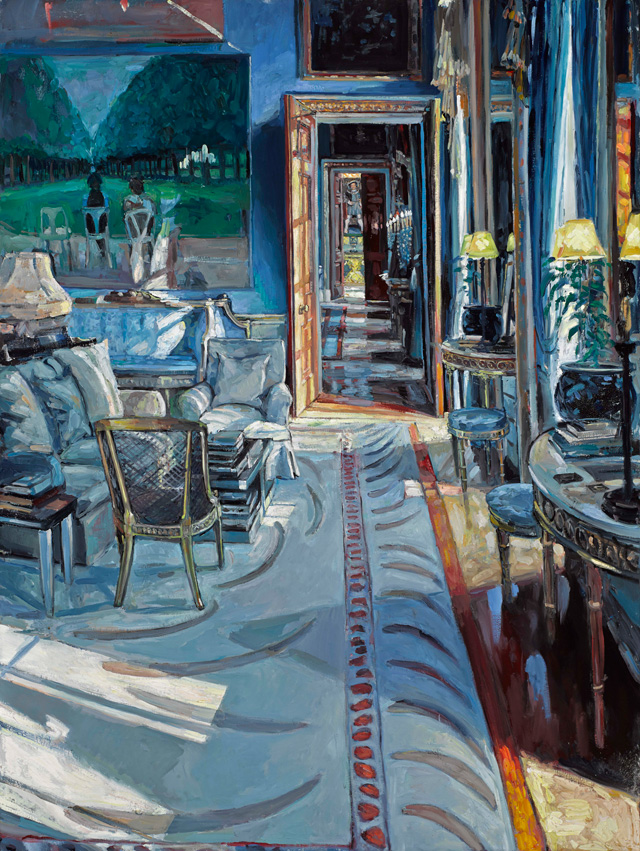 Hector McDonnell. Chatsworth – The Drawing Room, 2015. Oil on canvas, 122 x 91.5 cm (48 x 36 in).