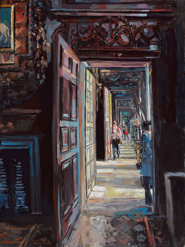 Hector McDonnell. Chatsworth – The State Rooms, 2015. Oil on canvas, 102 x 76 cm (40 x 30 in).