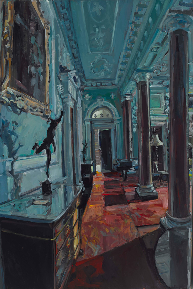 Hector McDonnell. Entrance Hall at Castle Ward, 2015. Oil on canvas, 102 x 76 cm (40 x 30 in).