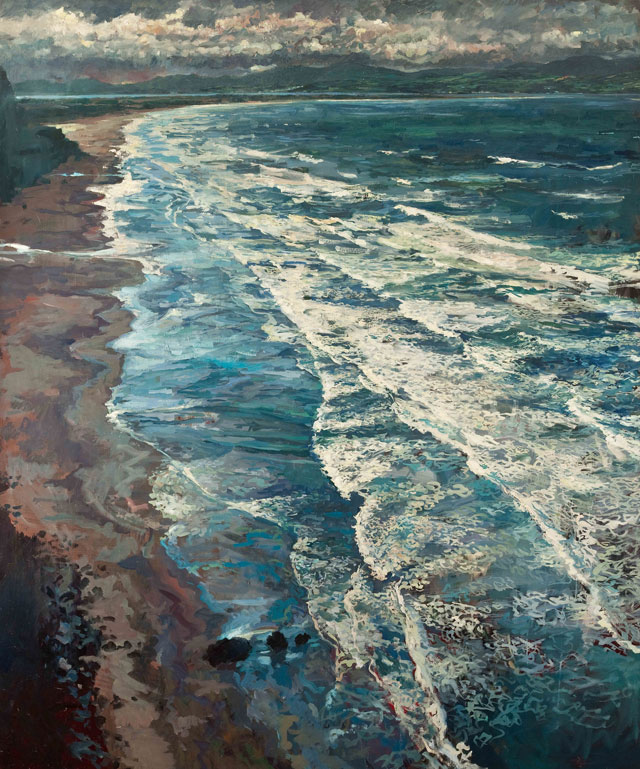 Hector McDonnell. Seascape, 1971. Oil on canvas, 20 x 24 in.