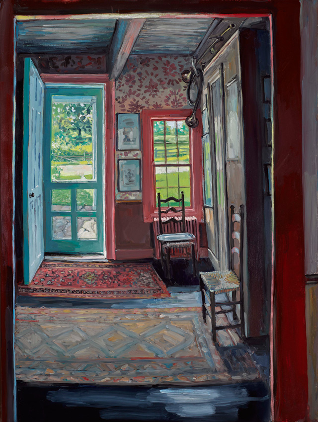 Hector McDonnell. Reesy's Front Door, Garrison New York, 2015. Oil on canvas, 102 x 76 cm (40 x 30 in).