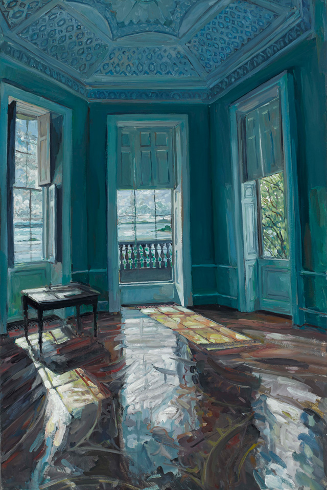 Hector McDonnell. Temple of the Winds, Mount Stewart, 2015. Oil on canvas 76 x 51 cm (30 x 20 in).