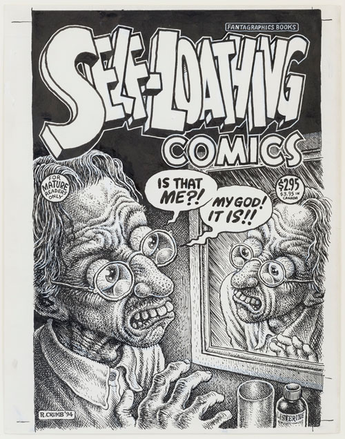 R. Crumb. Self-Loathing Comics #1 (cover), 1994. Ink, correction fluid, and collage on paper, 52.1 x 44.8 x 2.5 cm. Photograph: Damian Griffiths.