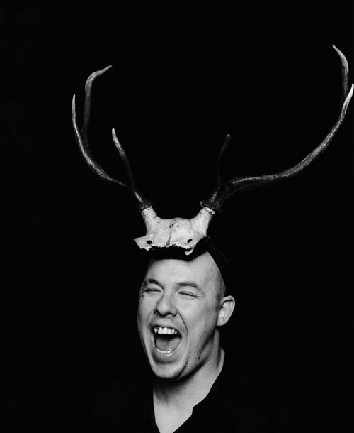 Portrait of Alexander McQueen, 1997. Photograph: Marc Hom. © Marc Hom/Trunk Archive.