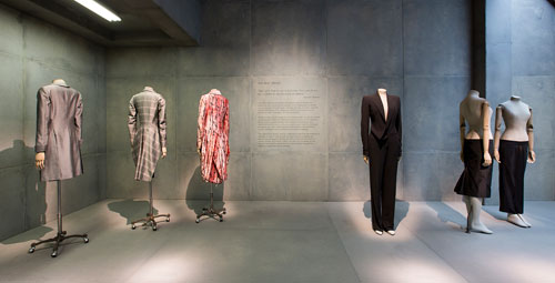 Alexander McQueen: Savage Beauty at the V&A, 2015. Installation view of Savage Mind gallery. Victoria and Albert Museum, London.