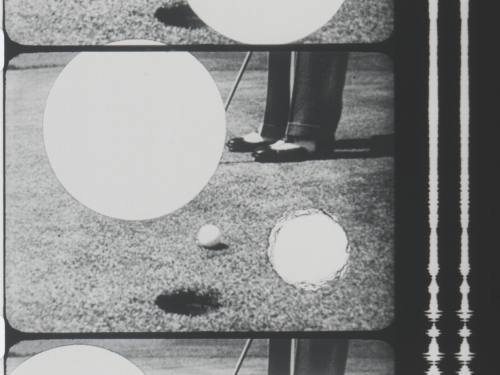 Raphael Montañez Ortiz. Golf, 1957. 16 mm film, (black and white, sound); 01:59 minutes, Smithsonian American Art Museum purchase through the Luisita L. and Franz H. Denghausen Endowment. © 1957 Raphael Montañez Ortiz.