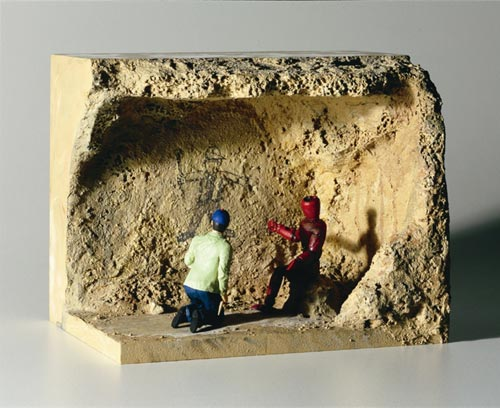 Alasdair Macintyre. <em>The Prophecy of Old Mahogany</em>, 2006. Polyurethane resin, polymer clay, wood, styrofoam, pebbles, sand, acrylic paint. 17.9 x 22.1 x 16 cm. Image: Courtesy the artist and Sullivan + Strumpf Fine Art, Sydney, Australia.