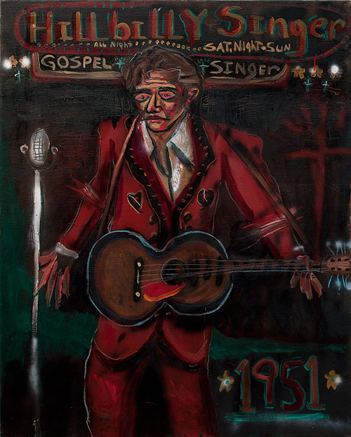 John Mellencamp. Hillbilly Singer, 2005. Oil on canvas, 60 x 48 in. Image courtesy of the artist. © John Mellencamp.