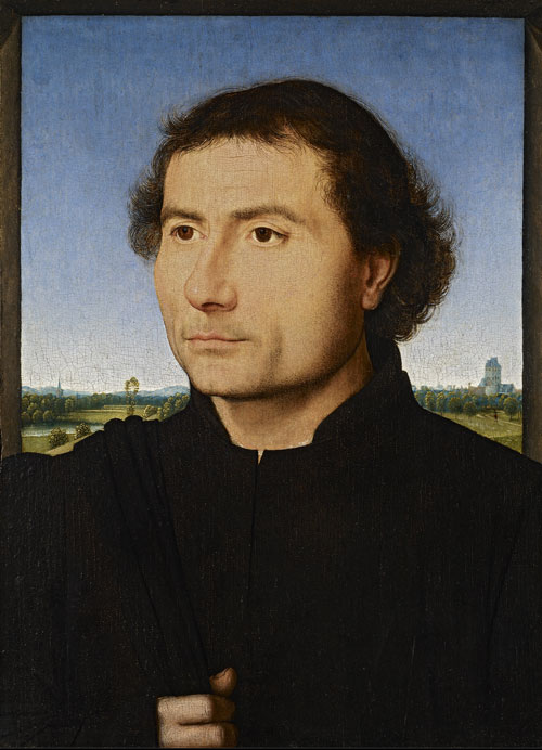 Hans Memling. Portrait of a man, c1470-1475. Oil on board, 33.5 x 23 cm. New York, The Frick Collection.