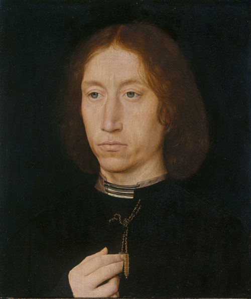 Hans Memling. Portrait of a man, c1475-1480. Oil on board, 31.8 x 27.1 cm. Royal Collection Trust/HM Queen Elizabeth II.