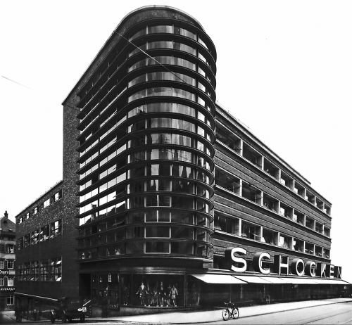 Screen model of the Schocken Department Store, Stuttgart, Germany. Courtesy Graham Ellard and Stephen Johnstone.