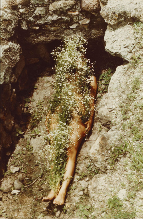 Ana Mendieta. Imagen de Yágul (Image from Yagul), 1973. Colour photograph, 48.3 x 31.8 cm. Courtesy Glenstone Museum.