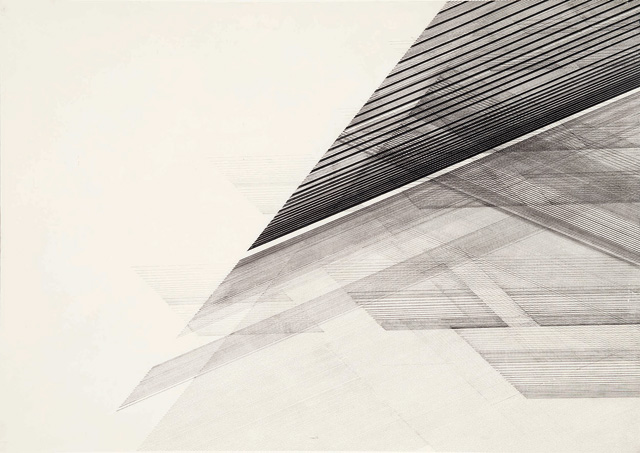 Nasreen Mohamedi. Untitled, c1975. Ink and graphite on paper, 20 × 28 in (50.8 × 71.1 cm). Sikander and Hydari Collection.