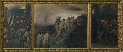 Constantin Meunier. Triptyque de la mine, c1900. Oil on canvas, MRBAB, Brussels. © MRBAB/Photograph: J. Geleyns/Ro scan.