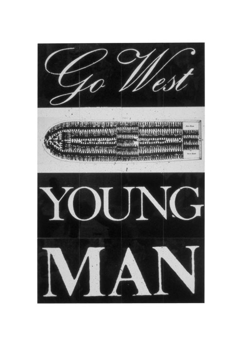 Keith Piper. <em>Go West Young Man</em>, 1987. Tate. © Keith Piper.