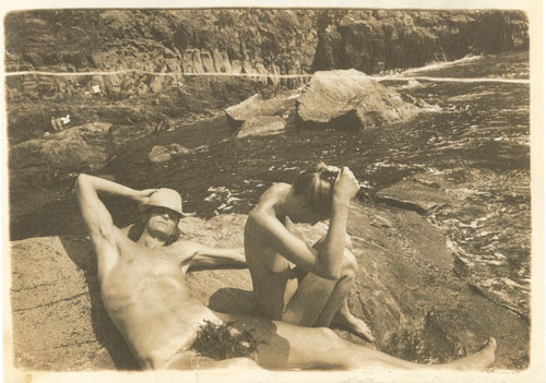 Boris Mikhailov. Crimean Snobbism (Series), 1981. One of a series of 55 photographs, gelatin silver prints, sepia toned,