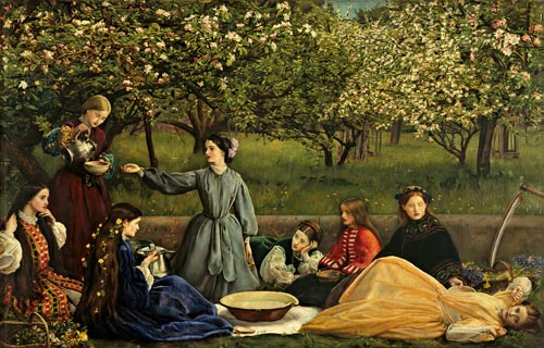 Millais, John Everett. <em>Spring, </em>1856&ndash;1859. Courtesy of National Museums Liverpool, Lady Lever Art Gallery