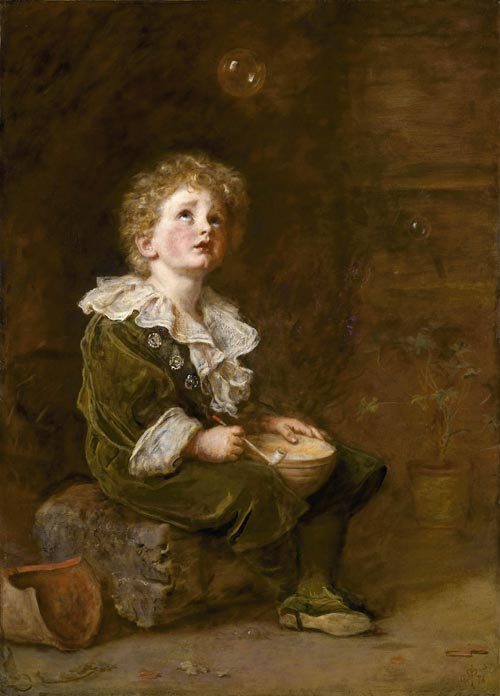 Millais, John Everett. <em>Bubbles,</em> 1885&ndash;1886. Oil on canvas, 1092 x 787 mm. Unilever, on loan to the Lady Lever Art Gallery, National Museums Liverpool