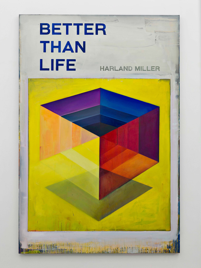 Harland Miller. Better Than Life, 2016, Oil on canvas, 300 x 202 cm. Courtesy the artist and Blain Southern. Photograph: Peter Mallet.