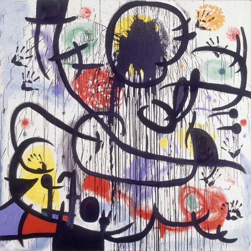 Joan Miró. <em>May 1968</em>, 1968-1973. Acrylic and oil on canvas, 200 x 200 cm. © Joan Miró and Fundació Joan Miró, Barcelona.