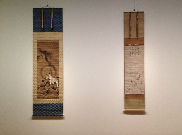 Hanging scrolls, Sboku-ga display.