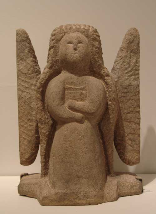 William Edmondson (ca. 1870-1951), Angel, 1937-1939. Carved limestone. 