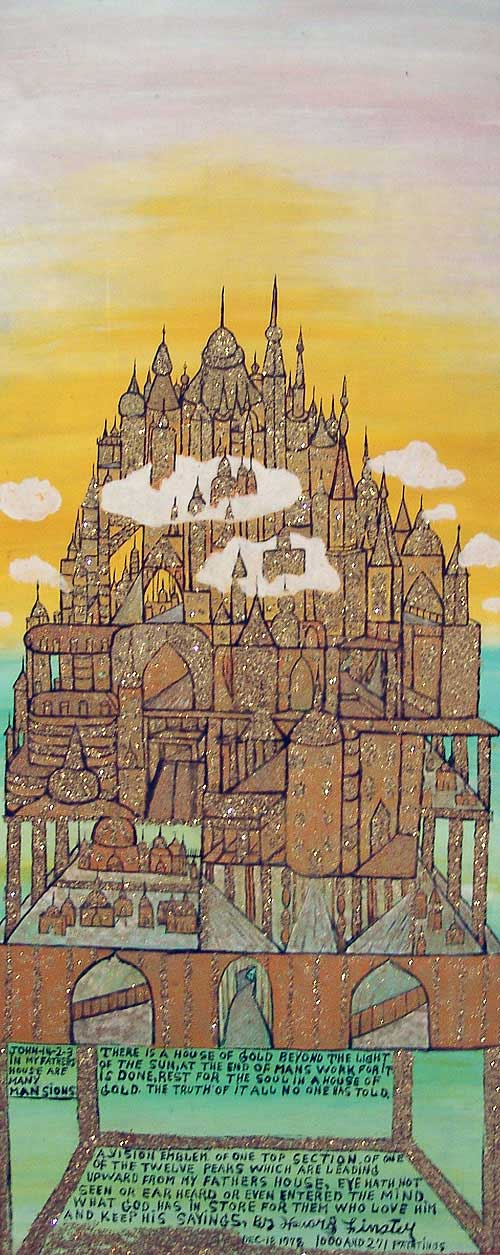 Howard Finster (1915 or 1916-2001), There is a House of Gold, #1000.271, 