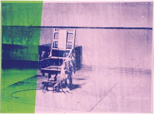 Andy Warhol. <em>Big Electric Chair,</em> 1967. Silkscreen and acrylic on primed canvas, 137.2 x 185.5 cm. &copy; Licensed by the Andy Warhol Foundation for the Visual Arts, Inc/ARS, New York and DACS London 2007. Courtesy of the Froehlich Collection, Stuttgart