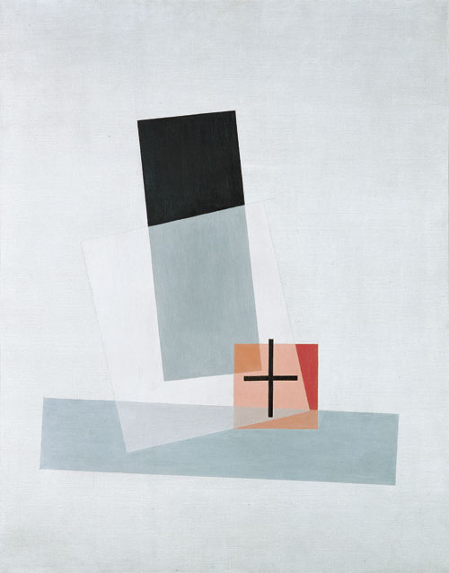 László Moholy-Nagy. Komposition Q VIII, 1922. Oil on canvas, 96.3 x 75.7 x 2 cm. Mumok - Museum of Modern Art Foundation Ludwig Vienna. Photograph: mumok. © Bildrecht Wien, 2014.